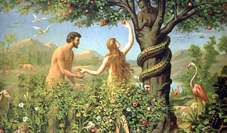 Image result for picture adam and eve bible